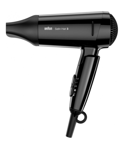 Фен складной Braun Satin Hair 3 Style&Go HD350, 1600 Вт, черный