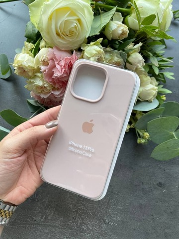 Чехол iPhone 13 Mini Silicone Case Full /pink sand/
