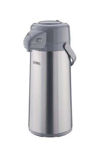 Термос Thermos TPP-2200MPP (2,2 литра) стекланная колба с пневмонасосом, стальной