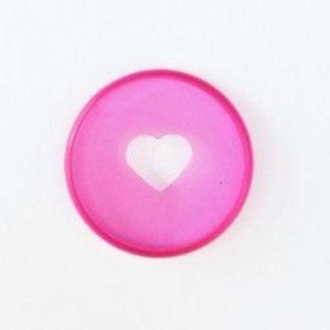 Диски- крепежный механизм для ежедневника Create 365 Planner Discs - Clear Hot Pink- 3.3 см