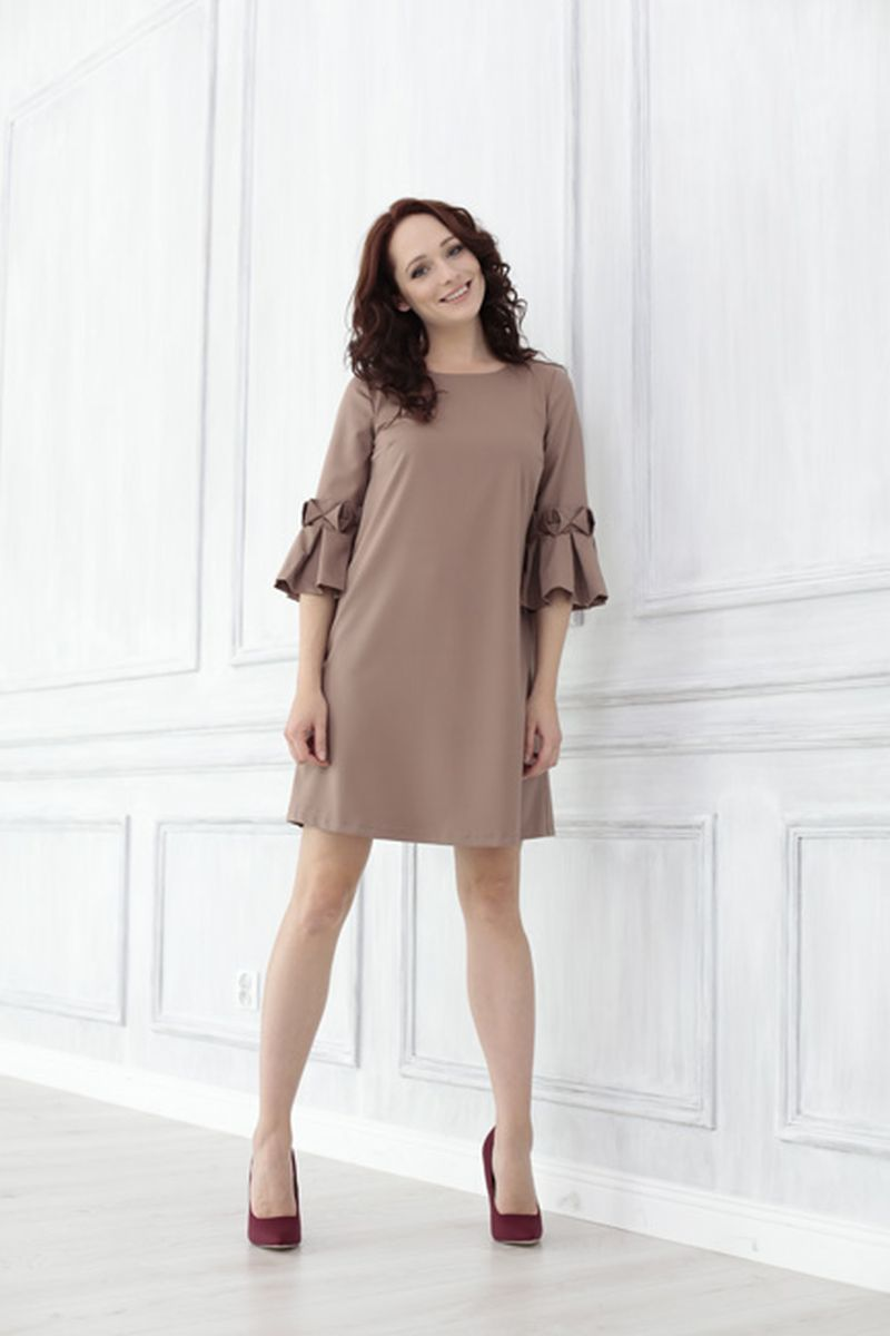 Фото платье для беременных Mama i Ja от магазина СкороМама, капучино, коричневый, размеры.