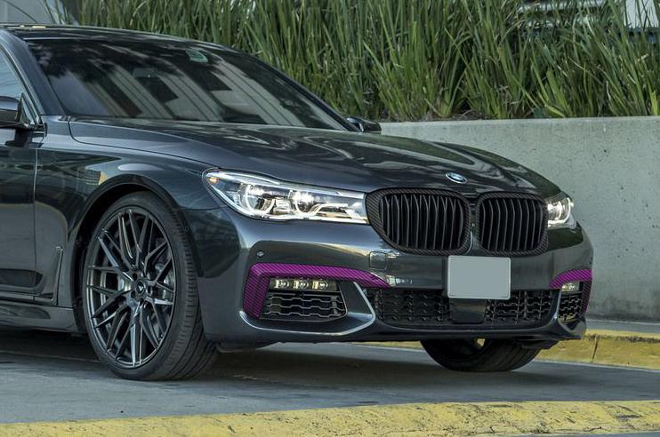 Карбоновые вставки переднего бампера для BMW 7 G11