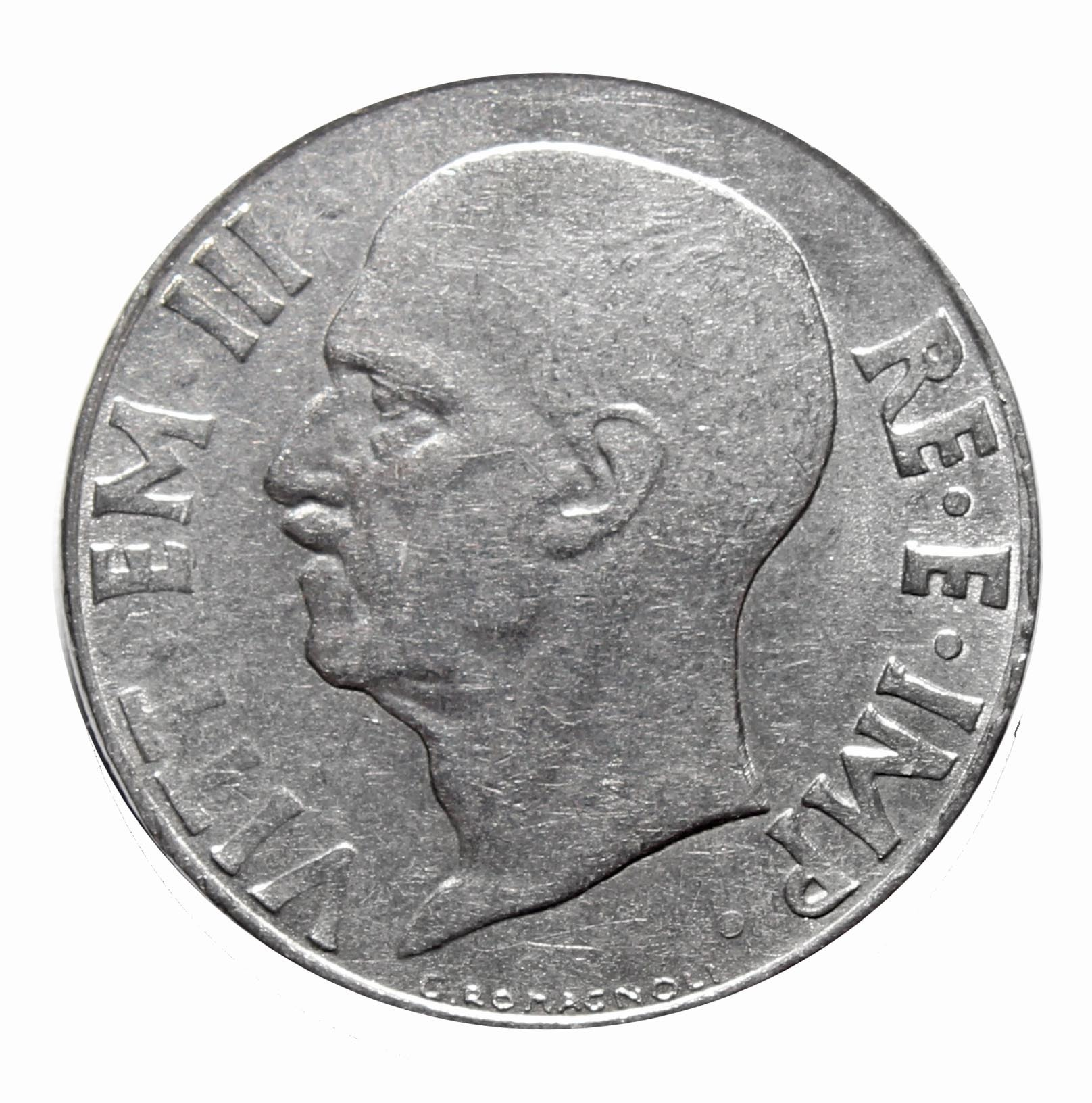20 чентезимо. Италия. 1940-1942 гг. XF