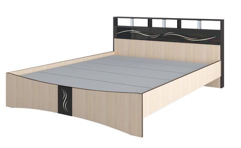 Кровать 1,6 Эрика ЛДСП ТЭКС венге/дуб молочный