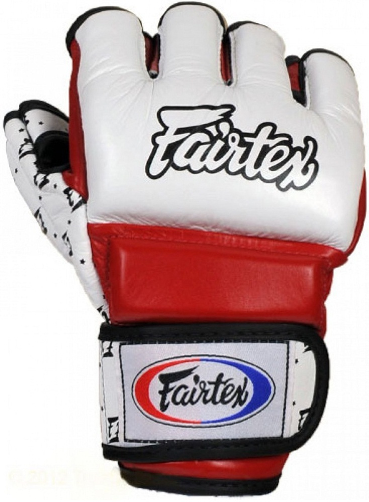 ММА перчатки Перчатки MMA Fairtex Sparring Gloves FGV17 White/Red 1.jpg