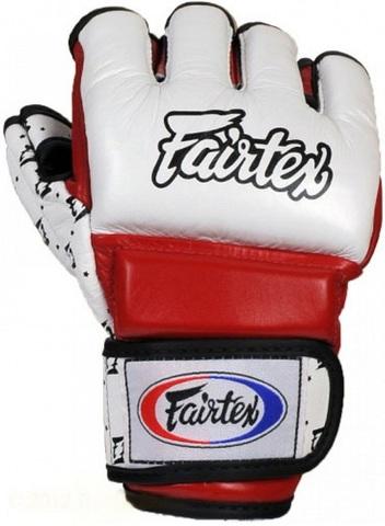 Перчатки MMA Fairtex Sparring Gloves FGV17 White/Red