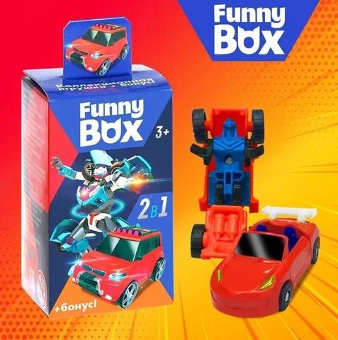068-1302 Набор для детей Funny Box «Трансформер» Набор: робот-трансформер, инструкция, наклейки, МИКС