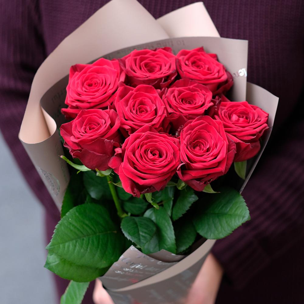 Купить небольшой букет 9 красных роз Пермь доставка заказ онлайн