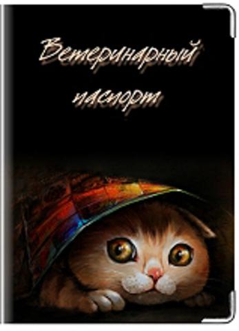 """Обложка для ветеринарного паспорта """"Кошка"""" (3)"""