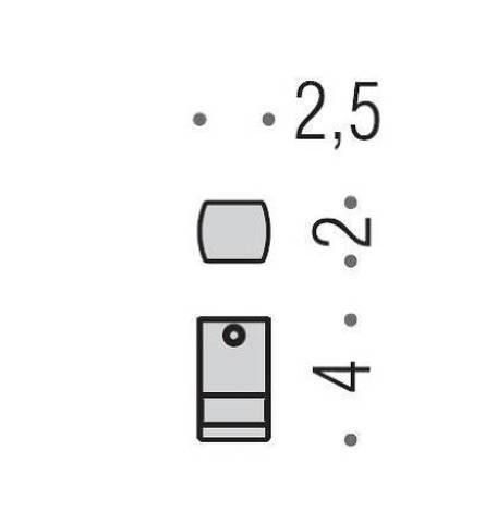 Крючок Colombo Lulu  LC57, хром схема