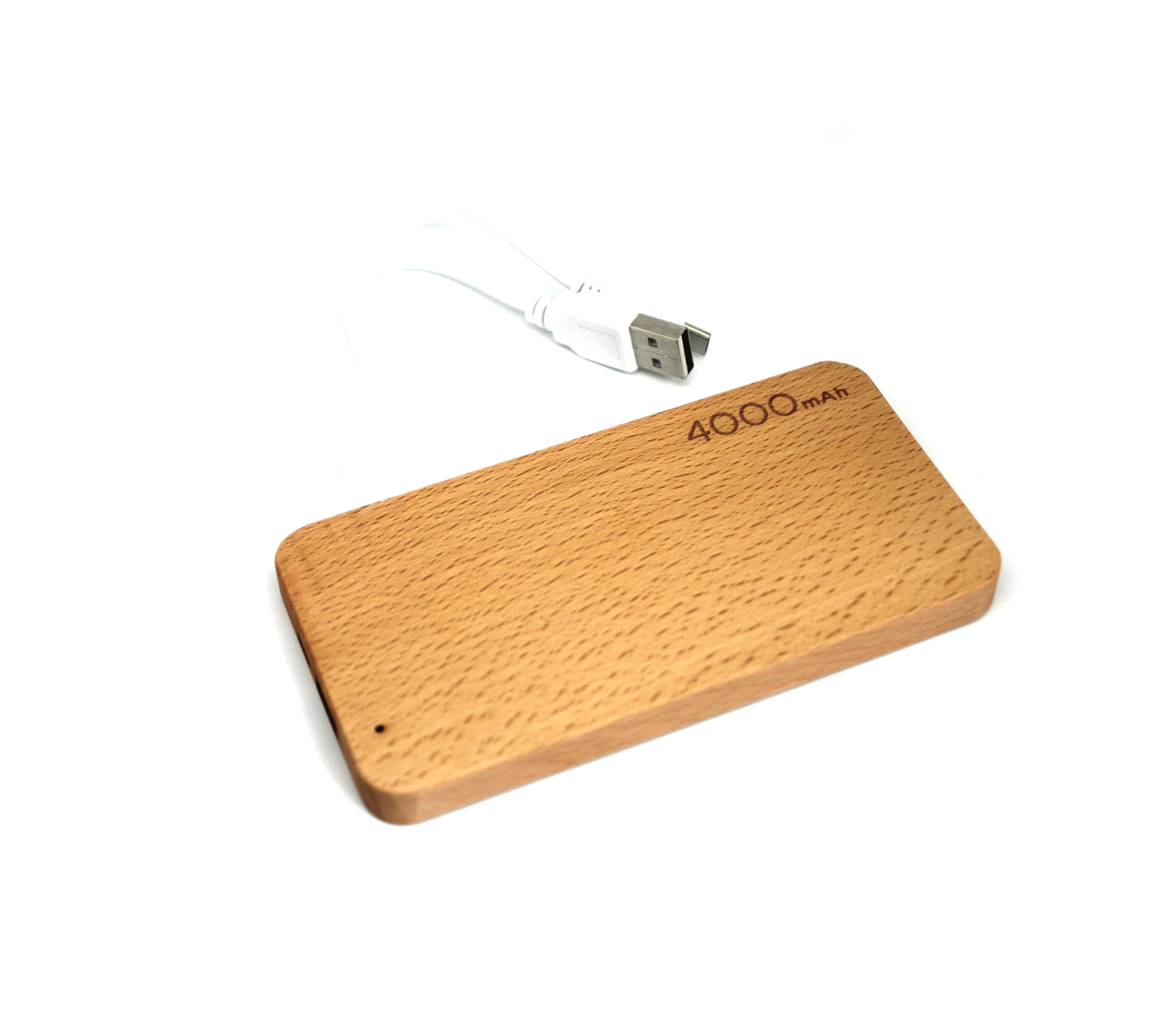 power bank в розницу 4000 mah деревянный с золотой вставкой