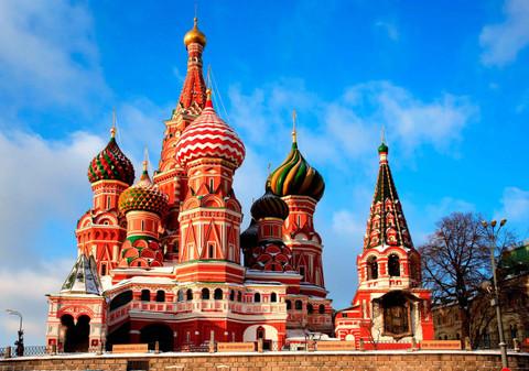 Картина раскраска по номерам 30x40 Храм Василия Блаженного