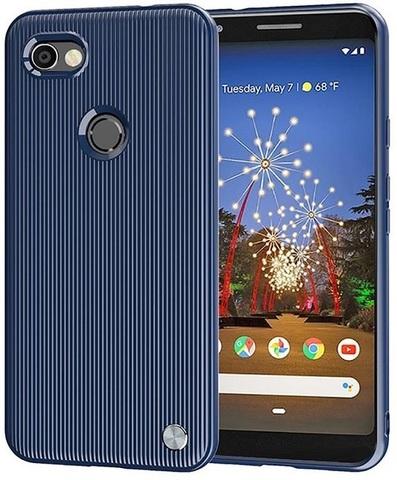 Чехол на Google Pixel3a XL цвет Blue (синий), серия Bevel от Caseport