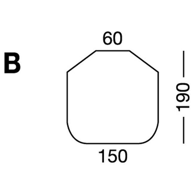Elastic sheet / model B / blue