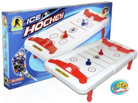 Набор для игры в аэрохоккей. В комплекте стол (71*41*17см,цвет - белый) ,шайба, 2 клюшки. :(628-02):