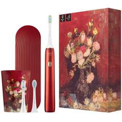 Вибрационная зубная щетка Soocas X3U Van Gogh Museum Design, красный металлик