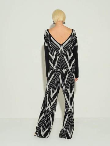Женский джемпер черного цвета из шелка и кашемира - фото 3
