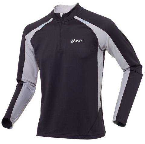 Беговая футболка ASICS CENTAURI WINTER TOP с длинным рукавом черная