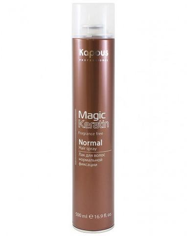 Лак аэрозольный для волос нормальной фиксации с кератином, 500 мл