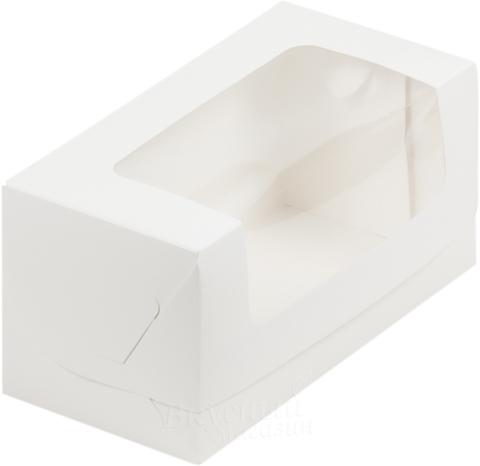 Коробка для кекса, 20*10*10см, (белая)