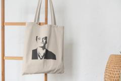Сумка-шоппер с принтом Криминальное чтиво, Квентин Тарантино (Pulp Fiction) бежевая 002