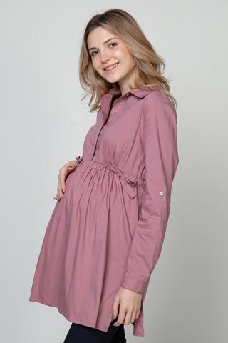 Рубашка для беременных 10921 пыльно-розовый