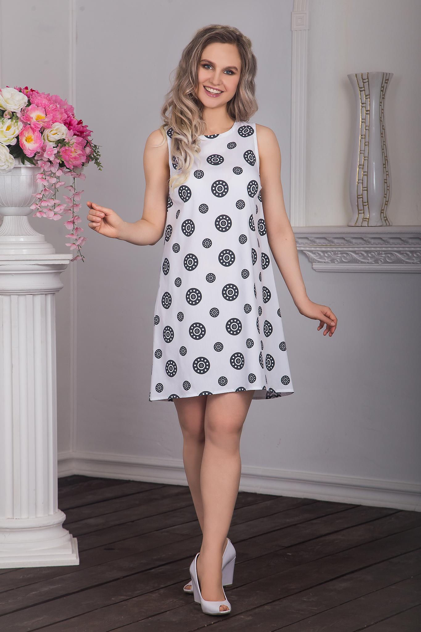 Платье Дымковская игрушка (черные горошины)