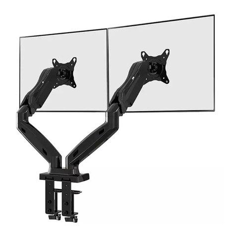 Кронштейн  на струбцине двухколенный для двух телевизоров или мониторов North Bayou NB F160 Black
