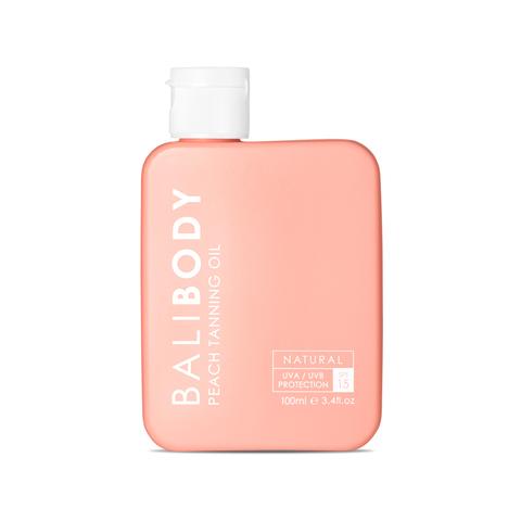 BALIBODY Масло для загара с экстрактом персика с защитой SPF 15 Peach Tanning Oil