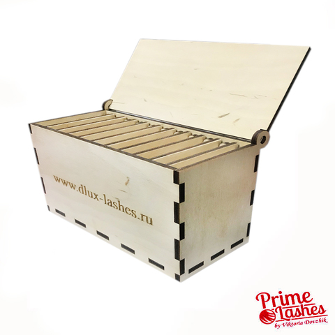деревянный Лэш-бокс на 10 планшетов Luxury
