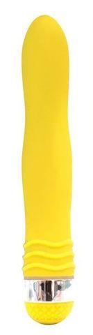 Желтый эргономичный вибратор Sexy Friend - 17,5 см.