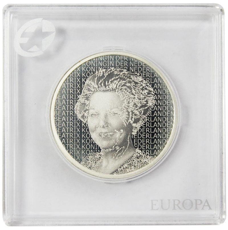 5 евро. 400 лет со дня рождения Рембрандта. Нидерланды. Серебро. 2006 г. PROOF. В оригинальной квадрокапсуле