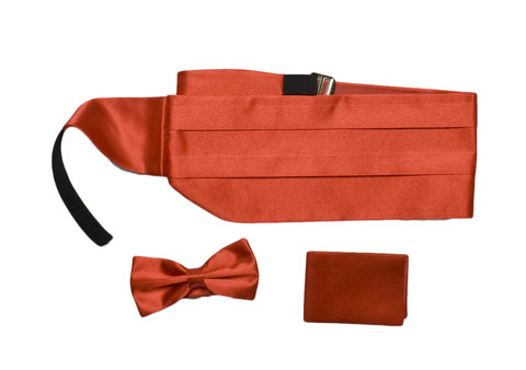 Камербанд (кушак, пояс) La madre красный для смокинга+бабочка+платок