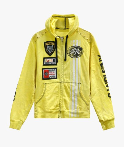 Толстовка The Saints Sinphony EMBROIDERED RACER FRENCH TERRY HOODED SWEATSHIRT YELLOW
