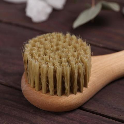Щётка для лица, деревянная, натуральная щетина