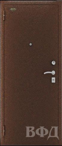 Дверь входная ОПТИМА стальная, беленый дуб, 2 замка, фабрика Владимирская фабрика дверей