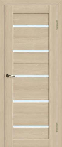 Дверь La Stella 206, стекло матовое, цвет ясень латте, остекленная