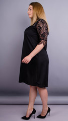 Лайза. Практична сукня великих розмірів. Чорний.