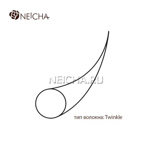 Ресницы NEICHA нейша 6 линий ИЗГИБ С темно-коричневые (отдельные длины)