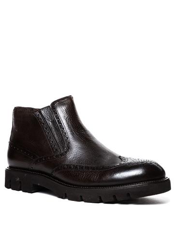 Кожаные ботинки Barcly 8206 на меху