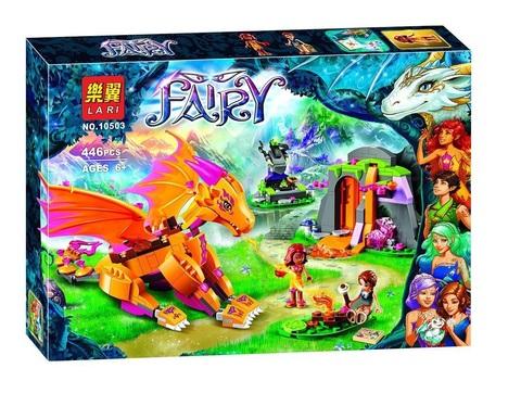 Конструктор Fairy 10503 Лавовая пещера дракона огня