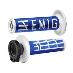 Грипсы ODI EMIG V2 Lock-On H36EMUW синий/белый 4 и 2-х тактных