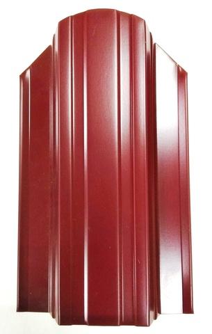 Штакетник металлический вишневый 130 мм