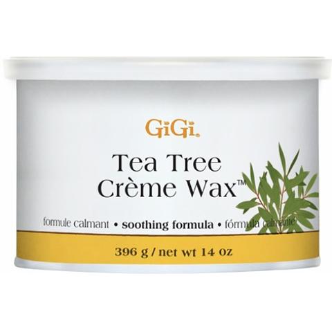 GiGi, Tea Tree Creme Wax - Кремообразный воск с маслом чайного дерева 396г.