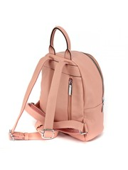 Розовый рюкзак с диагональным замком,украшенным стразами