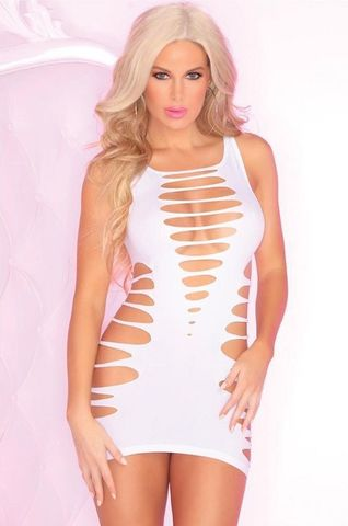 Бесшовное эротическое платье с перфорацией