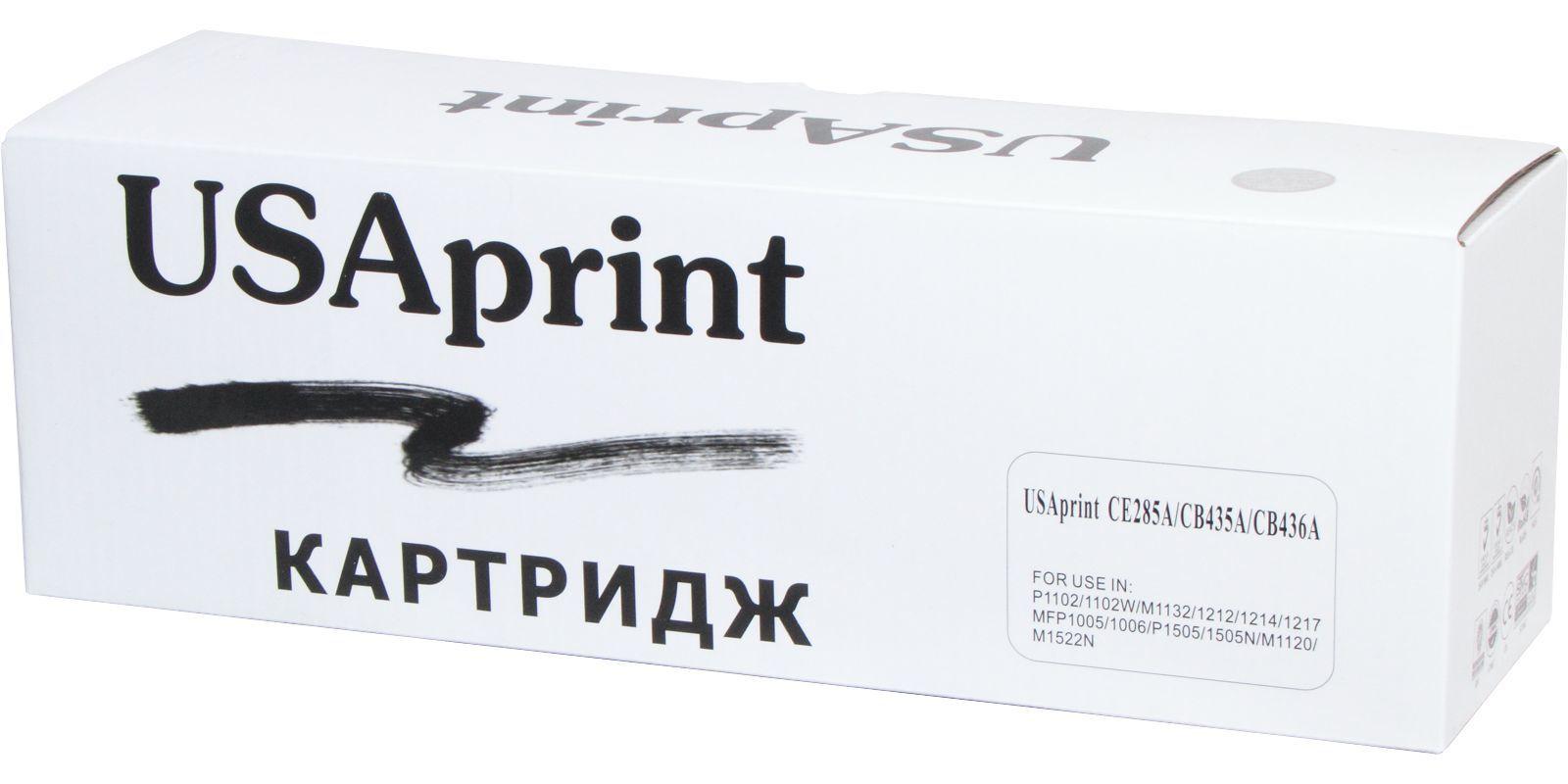 Картридж лазерный USAprint 85A/35A/36A CE285A/CB435A/CB436A (Cartridge 725)/(Cartridge 712) черный (black), до 2300 стр.