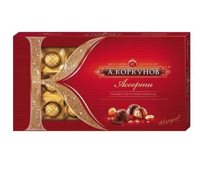 Шоколадные конфеты ассорти А.Коркунов