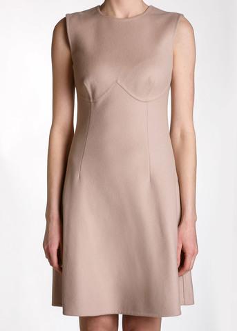 Платье из кашемира и шелка ERMANNO SCERVINO