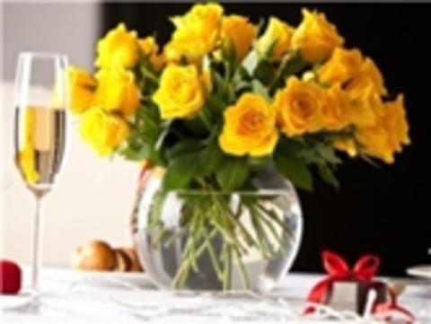 Алмазная Мозаика 40x50 Праздничный букет желтых роз